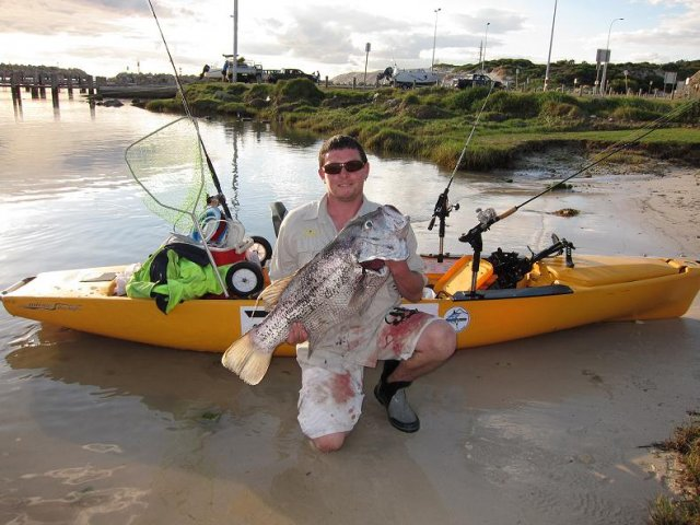 mate billy whith a yak caught dhuie from a few months back